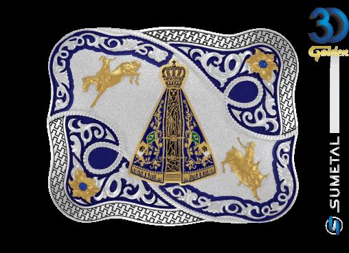 12156F PD Azul - Fivela Country Nossa Senhora
