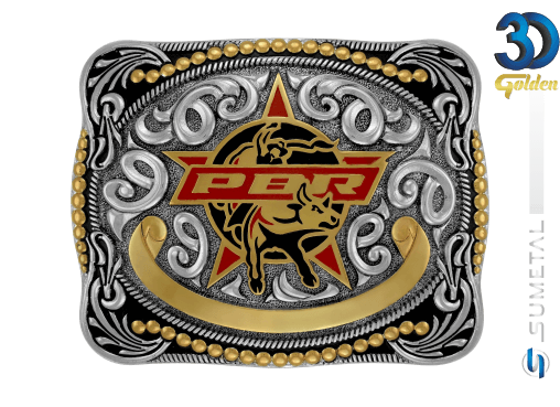 12163FE PD - Fivela Country PBR PROFESSIONAL BULL RIDERS