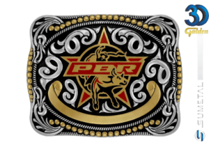 12163FJ PD - Fivela Country PBR PROFESSIONAL BULL RIDERS