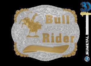 12164F PD - Fivela Country Bull Rider