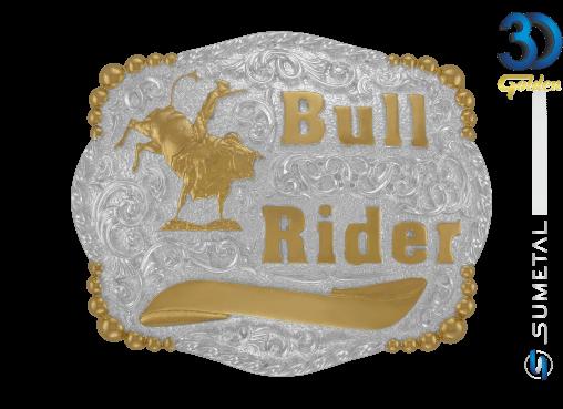 12164FJ PD - Fivela Country Bull Rider