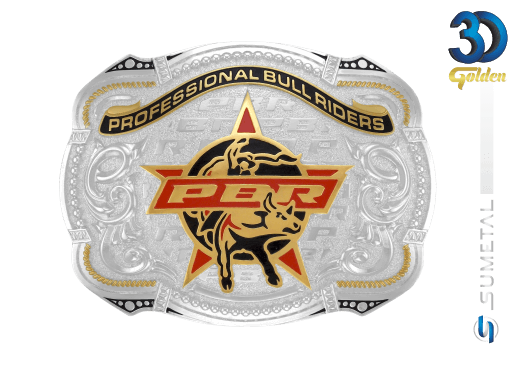 12165F PD - Fivela Country PBR PROFESSIONAL BULL RIDERS