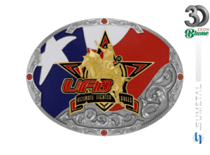 12174F ND - Fivela Country UFB Ultimate Fighter Bulls