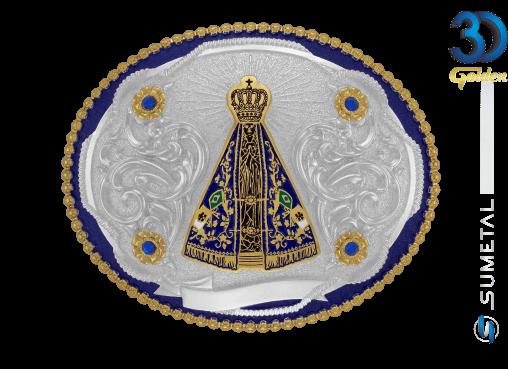 12176F PD Azul - Fivela Country Nossa Senhora
