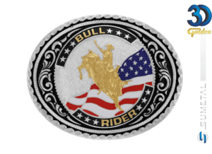 12181F PD - Fivela Country Bull Rider
