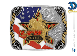 12183F ND - Fivela Country UFB Ultimate Fighter Bulls