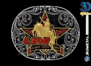 12196FJ PD - Fivela Country UFB Ultimate Fighter Bulls