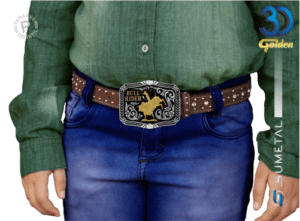 12209FJ PD - Fivela Country Bull Rider