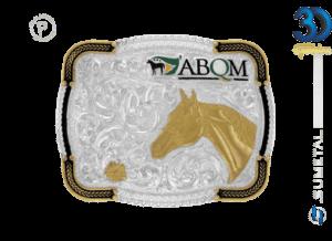 12089F PD - Fivela Country ABQM Cabeça de Cavalo Infantil