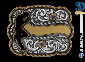 12213FE PD - Fivela Country Cowboy