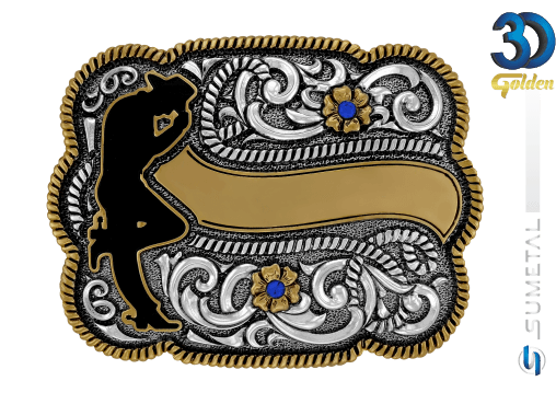 12213F PD - Fivela Country Cowboy
