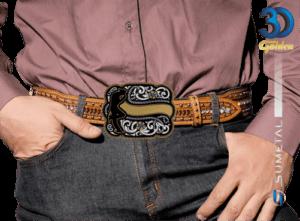 12213FJ PD - Fivela Country Cowboy