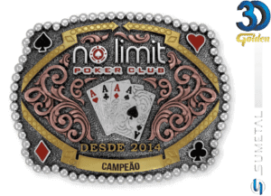 12179FE PDC - Fivela Country No Limit Poker Club Personalizada
