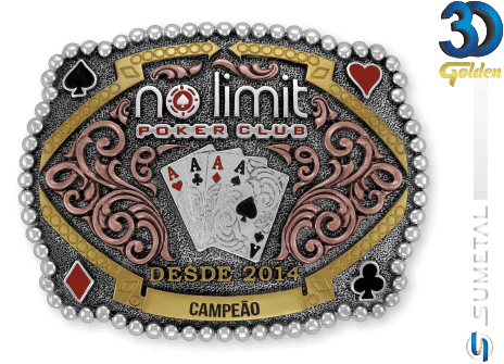 12179FE PDC - Fivela Country No Limit Poker Club Personalizada