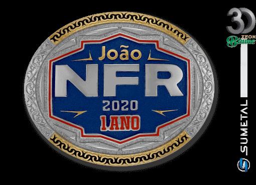 12421F ND - Fivela Country João 1 Ano Personalizada