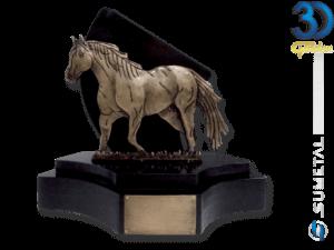 TR1040 OV - 3 Bases - Troféu Country Personalizado Cavalo