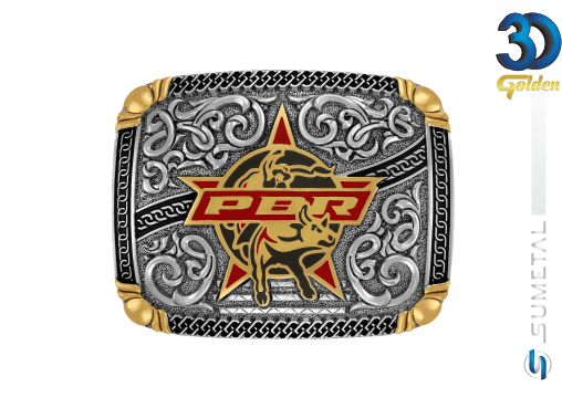 12735FE PD - Fivela Country PBR PROFESSIONAL BULL RIDERS