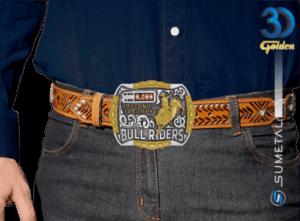 12225FE PD - Fivela Country Touro Bull Riders