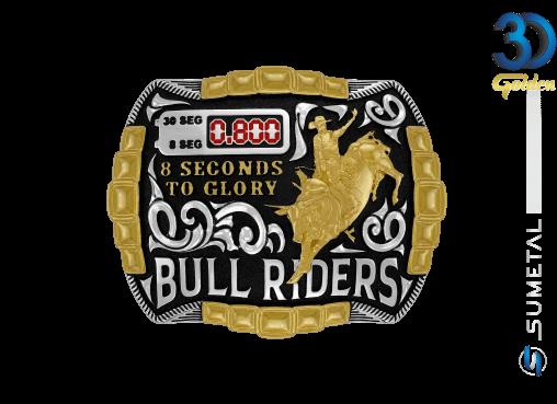 12225FJ PD - Fivela Country Touro Bull Riders