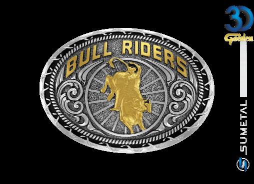 12285FE PD - Fivela Country Touro Bull Riders