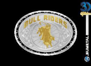 12285F PD - Fivela Country Touro Bull Riders