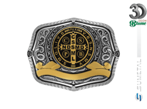 12768FE ND Logo Preto - Fivela Country São Bento