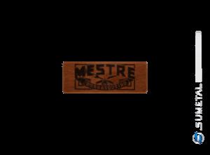 KIT0082 NI - Kit Churrasco Com Garfo Tridente e Madeira Personalizada com Logo Mestre Churrasqueiro Raiz